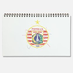 Persija Logo in Scribble art