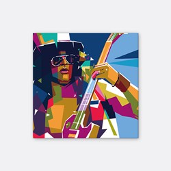 Slash in Pop art Portrait style