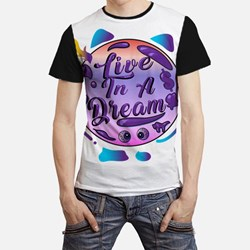 """Awesome Quote """" LIVE IN A DREAM """" Design Tshirt ,"""