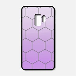 Hexagons And Purple Ombre