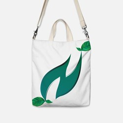 Symbol `N` Nature with green N letter and decorati