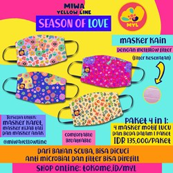 Paket masker kain 4 in 1: Season of Love 1