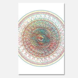 colorful abstract circle geometric illustration
