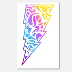 colorful abstract bolt illustration