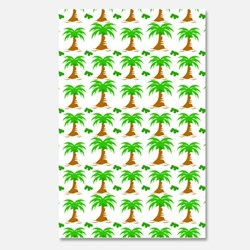 coconut tree seamless pattern background