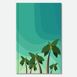 summer sky and coconut trees
