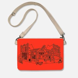 Sling Pouch: Pecinan in Red