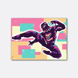 Black panther in wpap art