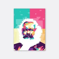 Karl Marx in wpap art