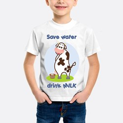 Peeing Cow (blue)